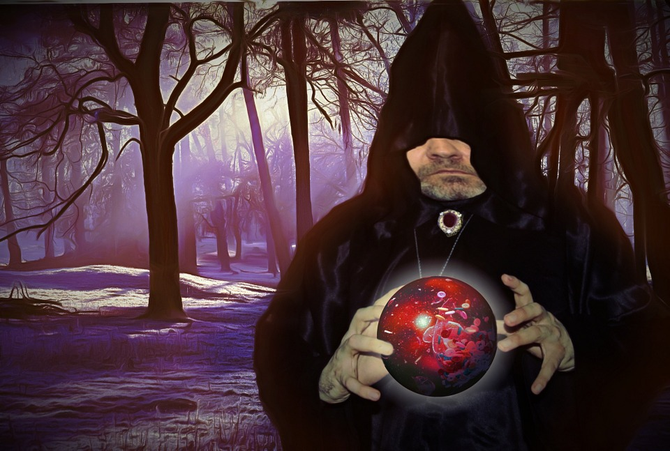 La historia de Merlín el mago-bola